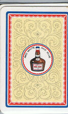 Swap Playing Cards 1 VINT WIDE RED  WHITE & BLUE PORT WINE  DRINK  ADVT D158