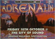 Club Adrenalin ~ SO3 @ The Sity Of Sound, Southampton, 18/10/96 Rave Flyers