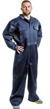 Men's Navy Zip Front Coveralls Industrial Work Uniform Conqueror Long Sleeve