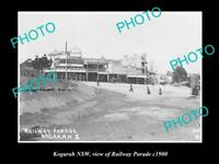 OLD LARGE HISTORIC PHOTO OF KOGARAH NSW, VIEW OF RAILWAY PARADE c1900