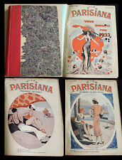 1933 PARISIANA vintage collection x 33 Erotic magazines, Art Deco illustrations