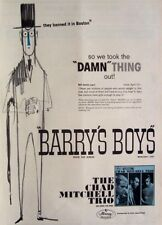CHAD MITCHELL TRIO 1964 original POSTER ADVERT BARRYS BOYS banned in boston