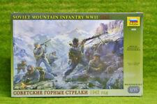 WWII SOVIET MOUNTAIN INFANTRY 1942 1/35 Zvezda set 3606