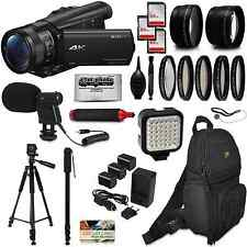 Sony FDR-AX100 4K Ultra HD Camcorder w/ Accessories - 192GB, Backpack, Mic, More