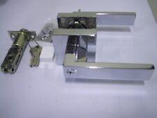 Entrance door lock & lever handle   Chrome  9807