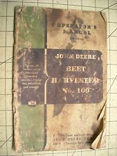 John Deere No 100 Beet Harvester Operators Manual Om D30 555