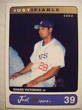 SHANE VICTORINO 2002 Just Minors baseball card Justifiable PHILLIES RED SOX QTY