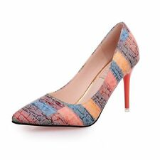 b2f5e52ca9409 Woman Pumps Shoes Autumn Fashion Style Rainbow Color High Heels Pointed Toe  Heel
