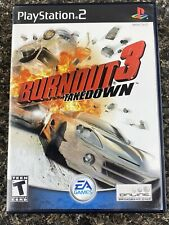 Burnout 3: Takedown (Sony PlayStation 2, 2004) PS2 Complete BLACK LABEL