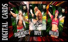 Topps SLAM WWE BURST 21 [ SET 22 CARDS SIGNATURE/BASE ]
