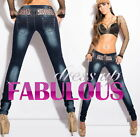 NEW SEXY WOMEN'S DESIGNER SKINNY JEANS Size 10 12 14 6 8 XS S M L XL DENIM PANTS