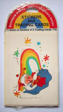 Rainbow Brite trading cards and stickers vintage Hallmark package 1983 B
