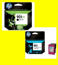 ORIGINALE HP 901xl BLACK + HP 901 color * cc654 cc656 Officejet 4500