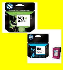 ORIGINALE HP 901xl BLACK + HP 901 color * cc654 cc656 Officejet 4500
