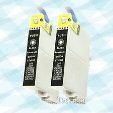2 Ink for Epson 60 Black BK T060120 CX5800F CX7800 C88