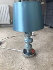 Teal Table Lamp With Lovely Modern Ball Base