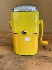 ICE-O-MAT  ICE CRUSHER  VINTAGE YELLOW--VOGUE MODEL--1950s