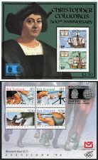 New Zealand Stamps S/S Columbus & Barcelona '92 World Columbian Expo '92 O/P