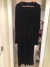 Elena Miro Black Plus Size Viscose Evening Dress Size UK 20 U.S.16