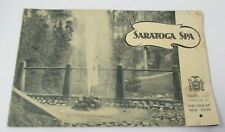 SARATOGA SPA, Ca 1930s New York State Saratoga Springs Authority, Illustrated