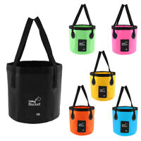 12L 20L Folding Bucket Water Container Carry Bag for Outdoor Camping Fishing