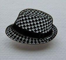Metal Enamel Pin Badge Brooch SKA Hat Music Dance Jazz Rythm Blues Reggae