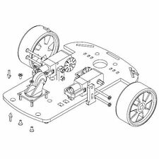 SMART Car 2wd MOTORE Robot Auto Chassis ROBOT KIT SPEED codificatore per Arduino MCU