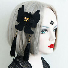 Butterfly Flower String Tassel Hair Clip Pin Barrette Cosplay Costume Party Goth