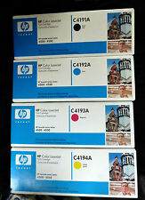 HP C4191A C4192A C4193A C4194A CMYK for LJ 4500 ALL 4 COLOURS FULL SET GENUINE