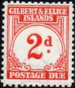 Gilbert & Ellice Islands 1940 Postage Due 1d Scarlet  SG.D2 Mint (MNH)
