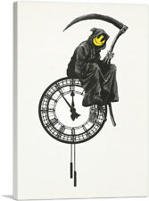 ARTCANVAS Smiley Death Grim Reaper Canvas Art Print by Banksy