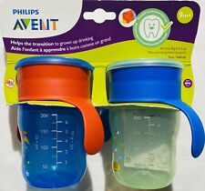 New Philips Avent My Natural Drinking Cup 9oz, 2pk, Blue/Green, SCF782/55 9m+