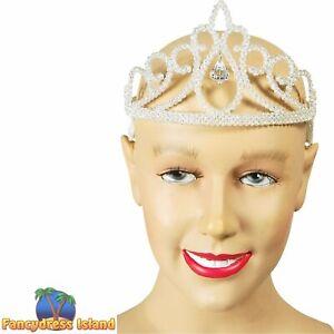 FAIRYTALE GLITTER DIAMOND TIARA - womens ladies fancy dress accessory