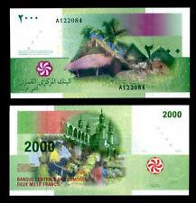 COMOROS COMORES 2,000 2000 FRANCS 2005 P 17 UNC