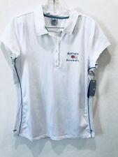 ALO SPORT COOL FIT XL Polo Shirt T-SHIRT TOP WOMENS Logo White Teal