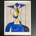"""Roy Lichtenstein Femme Au Chapeau Vintage Poster Print 21.5""""x28"""" Shorewood"""