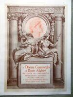 L'Illustrazione Italiana del 1907 Divina Commedia di Dante Alighieri Cinquecento