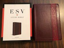 ESV Large Print Study Bible - $89.99 Retail - Mahogany Trellis TruTone