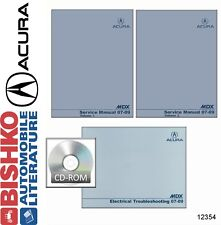 2007 2008 2009 Acura MDX Shop Service Repair Manual DVD w/ ETM manual