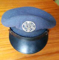 USAF Air Force Service Cap 100% Wool Serge Blue Type 4, Sz 6 3/4 1951 Korean War