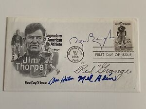 Red Grange Sammy Baugh Don Hutson Mel Hein NFL Signed Autograph First Day Cover