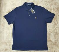 New (Men's Size L) Ralph Lauren Blue Colored Pony Horse Short Sleeve Polo Shirt