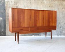 60er Teak Highboard Kommode Danish Mid-Century 60s Cabinet Credenza Vintage