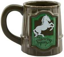 OFFICIAL LORD OF THE RINGS PRANCING PONY TANKARD COFFEE MUG CUP NEW & GIFT BOX