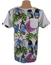 Mambo Surf Camiseta Oficial para Hombre Aves Bolsillo Blanco