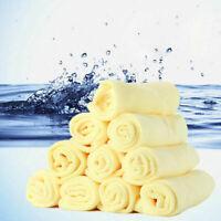 10XSet Mikrofaser Küche Waschen Auto Auto Trockenen Poliertuch Reinigung Ne D4F8