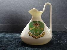 Carlton china model of a jug with Lyndhurst crest