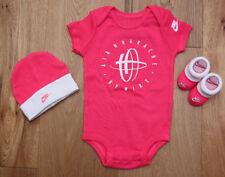 Nike Baby Girl 3 Piece Hat, Bodysuit & Booties Set ~ Neon Pink & White ~ 0-6M