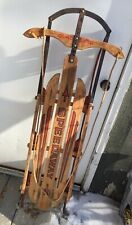 GLADDING SPEEDAWAY vintage wooden sled with red metal runners