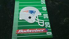 BUDWEISER BANNER NFL FOOTBALL BEER  SIGN 1995 New England Patriots